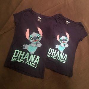 2 Disney Stitch T-shirt's L/S